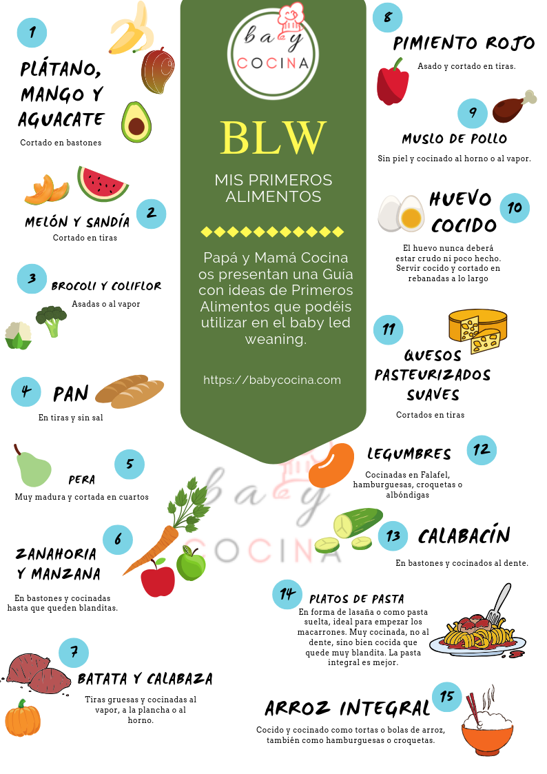 Primeros Alimentos Baby Led Weaning