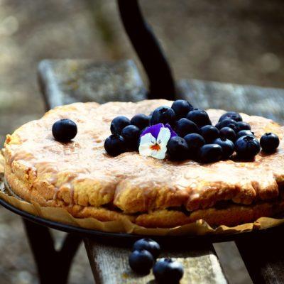 tarta de arándanos