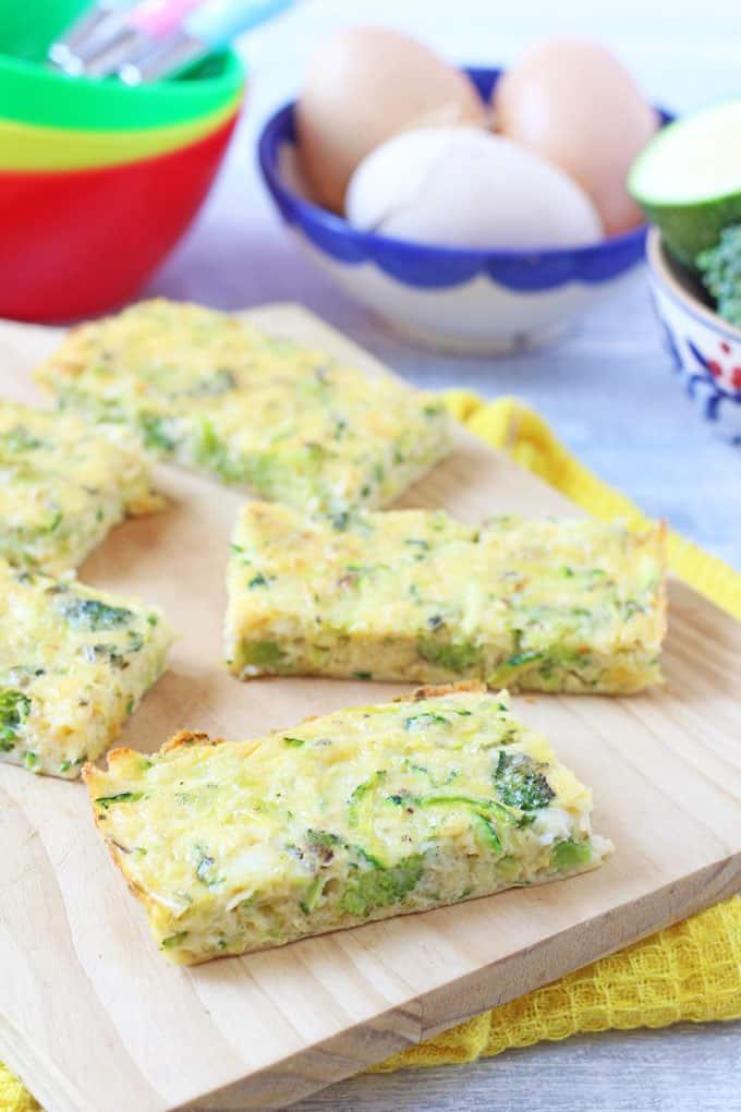 receta frittata brocoli y calabacín