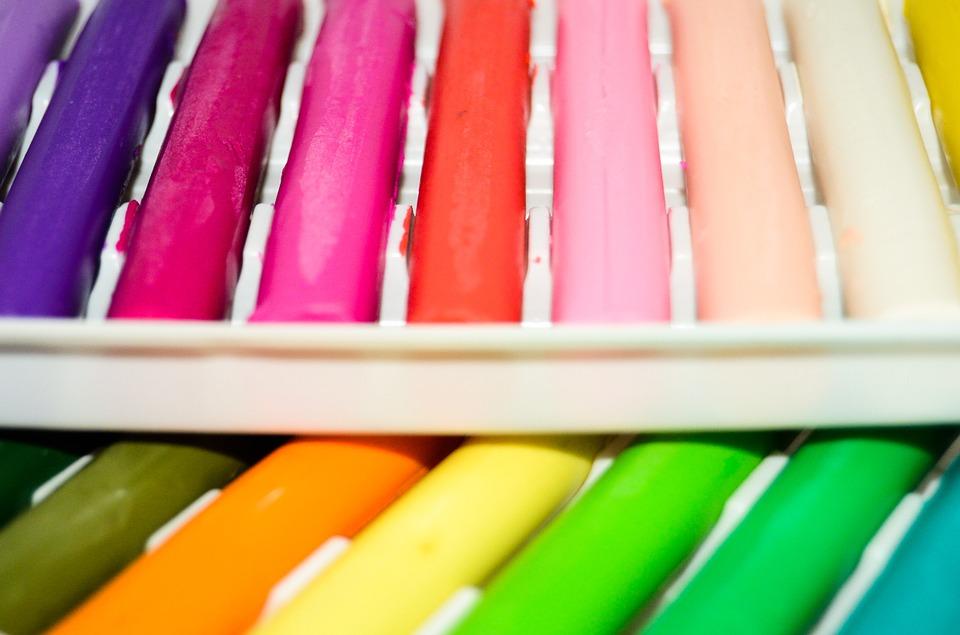 plastilina comestible de colores