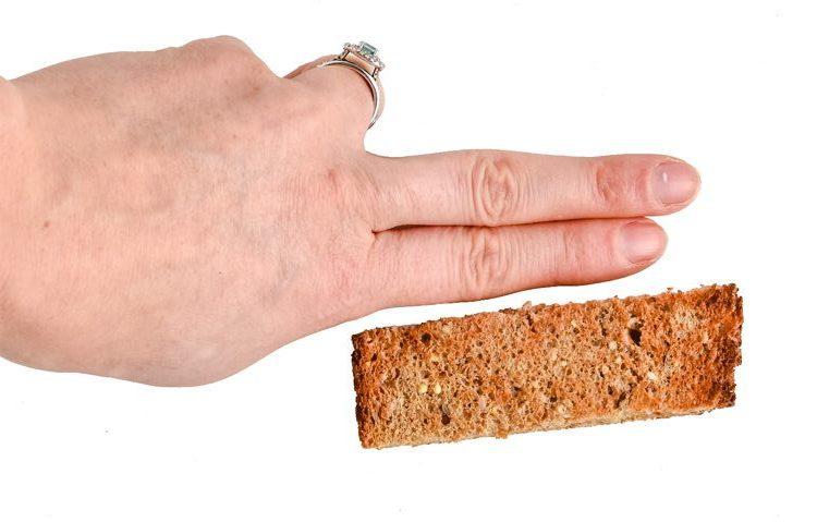 Tamaño correcto de corte en alimentos BLW