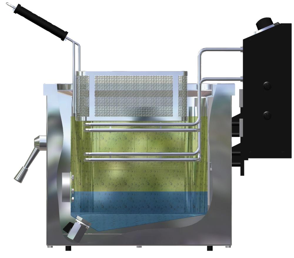 Freidora doméstica de agua y aceite