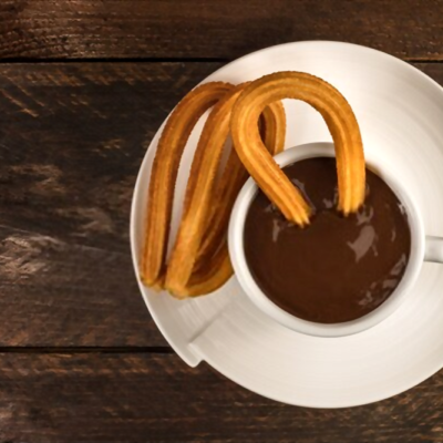 churros con chocolate caseros
