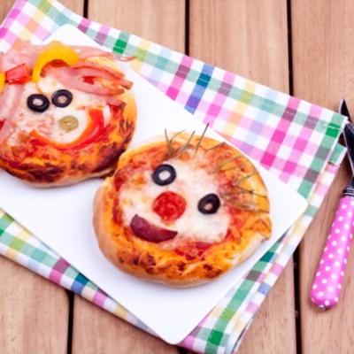 mini pizzas originales y divertidas