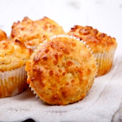 muffins de coliflor y queso