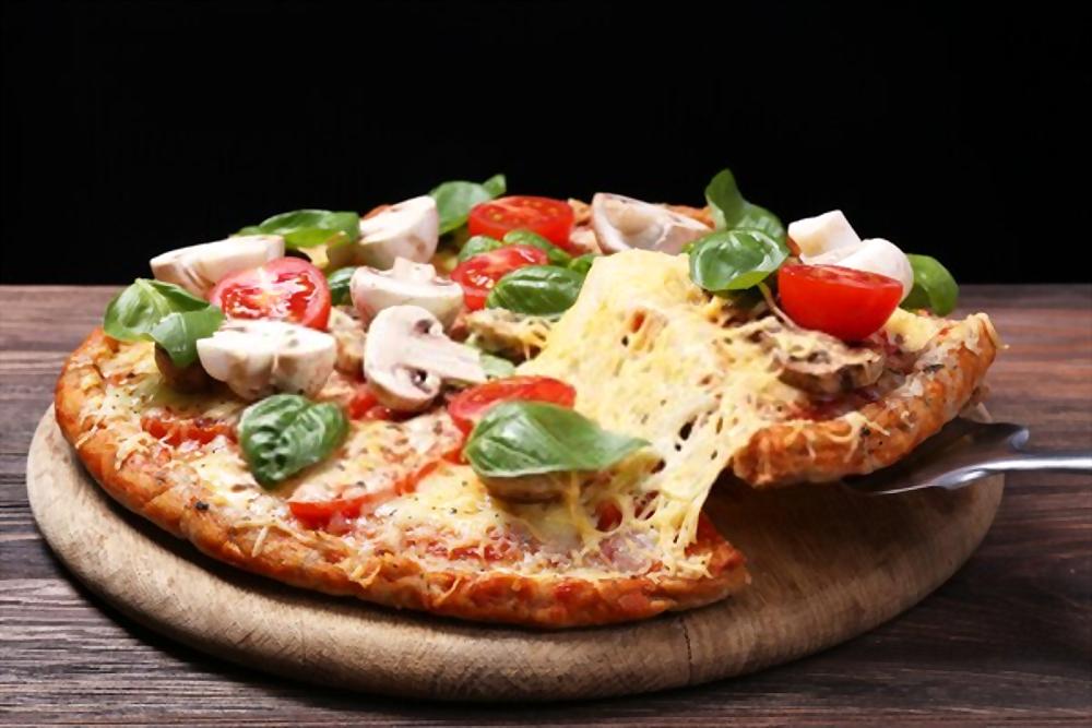 pizza con verdura verano