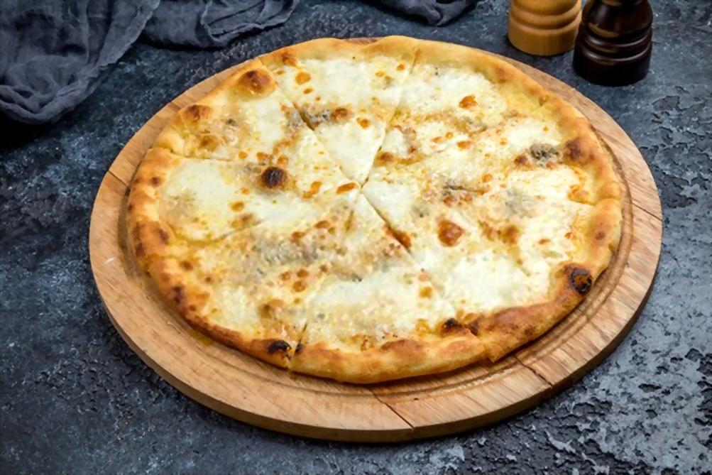 Pizza 4 Quesos | Mozzarella, Azul, Curado y Parmesano