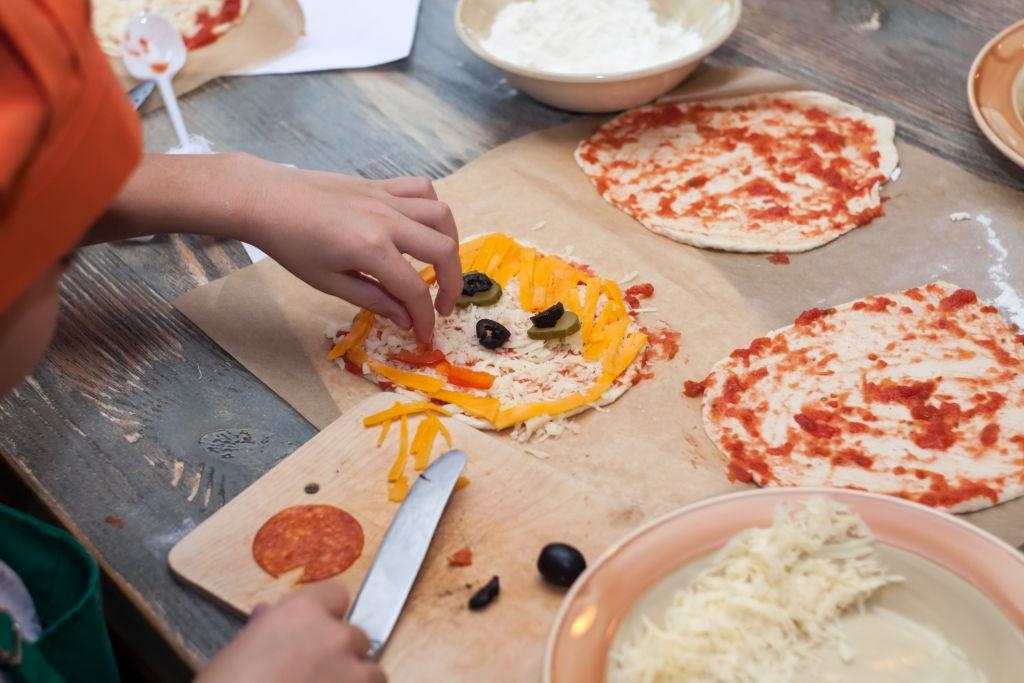 pizza para niños divertida