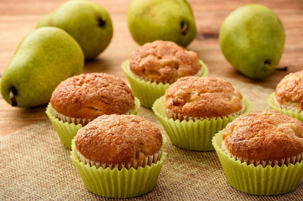 Muffins de pera con leche materna