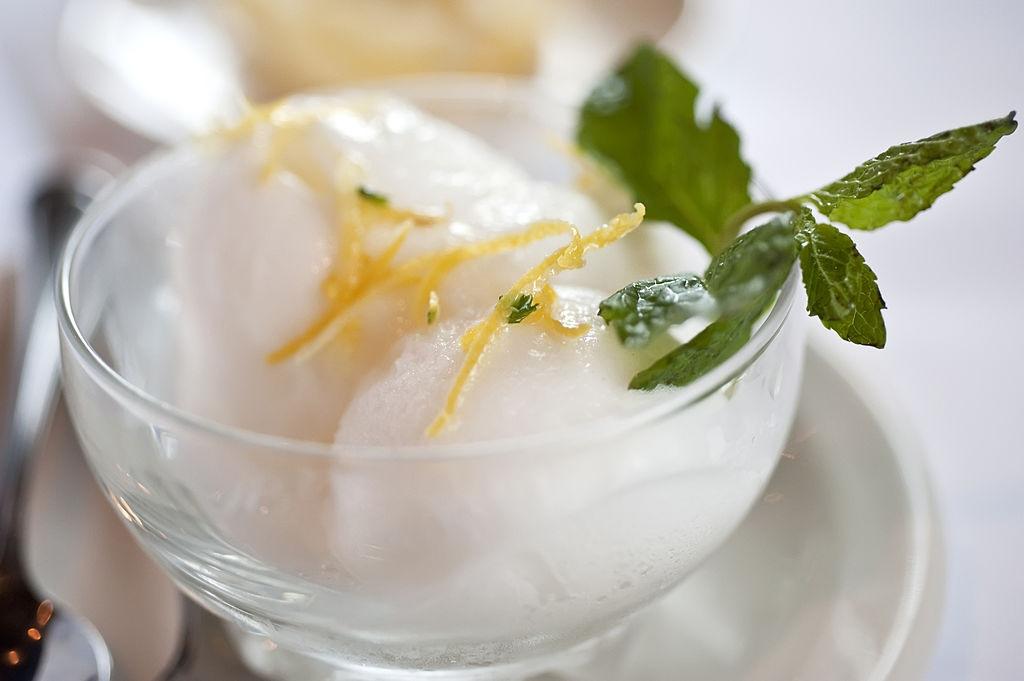 sorbete helado de limon