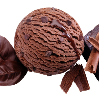 helado de mutella y brownie
