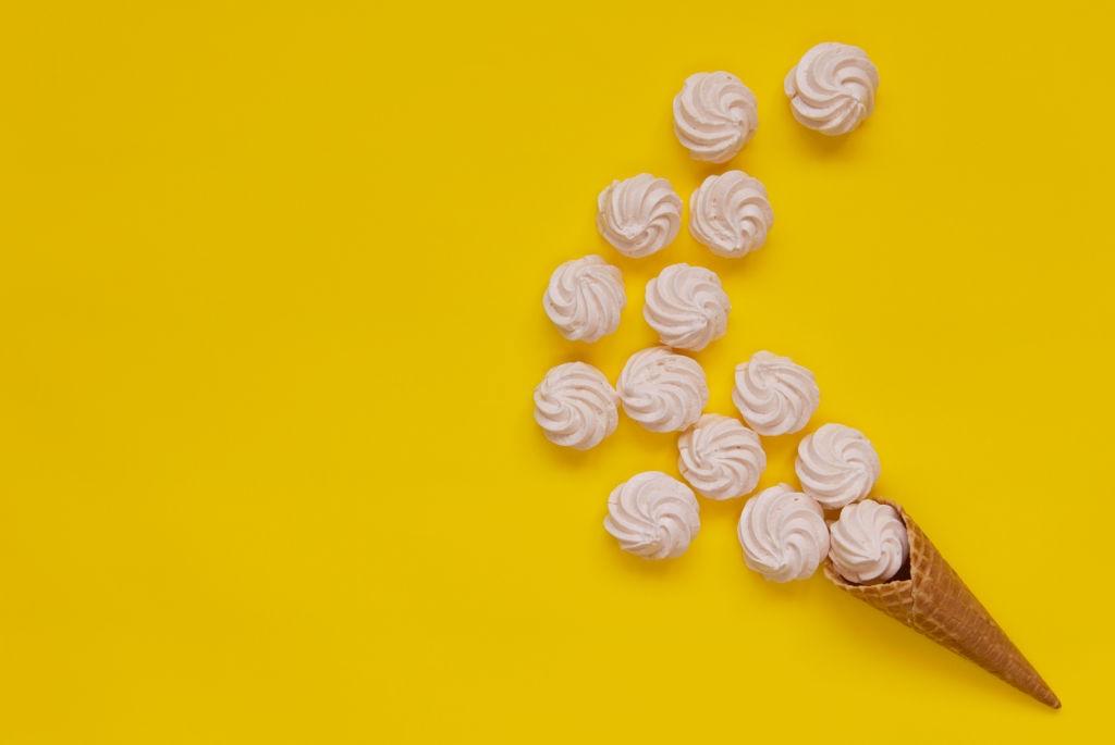 helados caseros con base de merengue