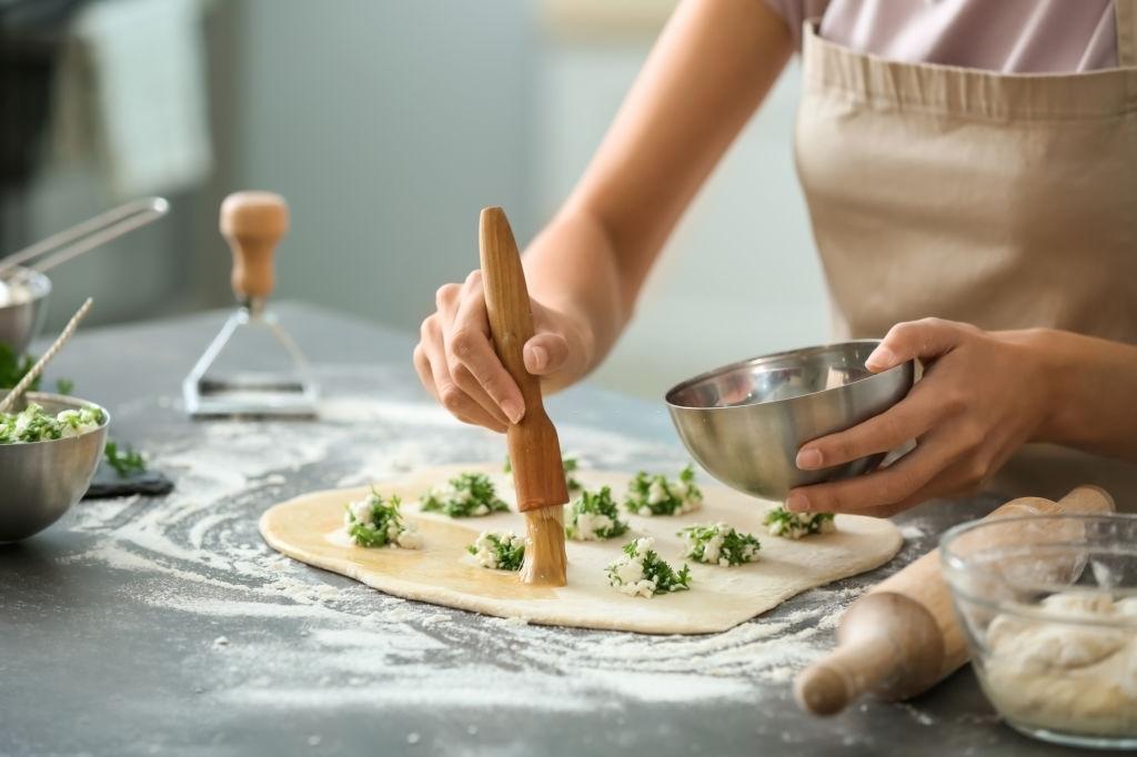 Relleno ravioles espinaca y queso ricotta