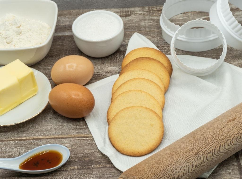 Ingredientes Galletas de Mantequilla
