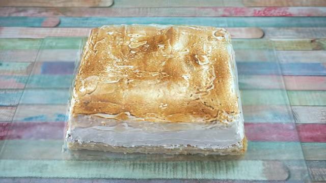 Receta de glaseado de merengue terminado