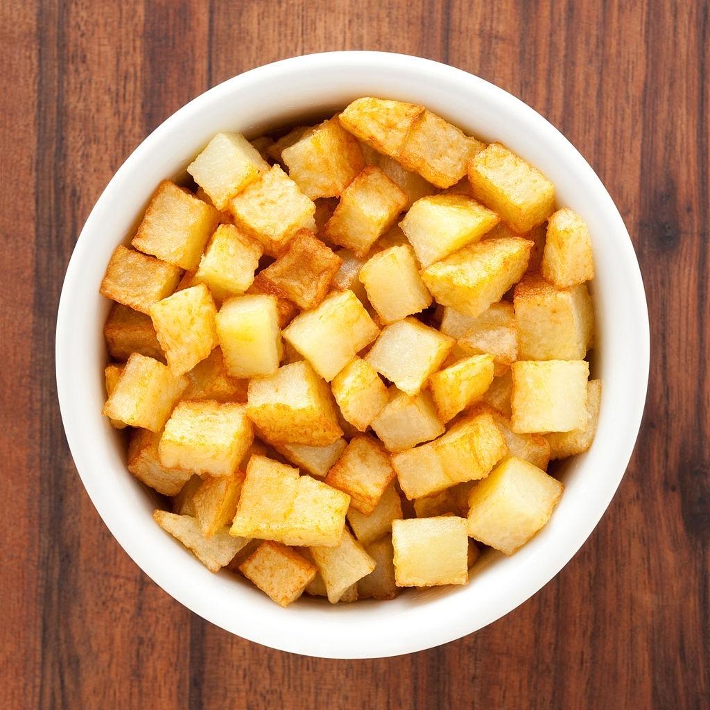 dados de patata fritos