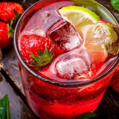 mojito de fresa sin alcohol