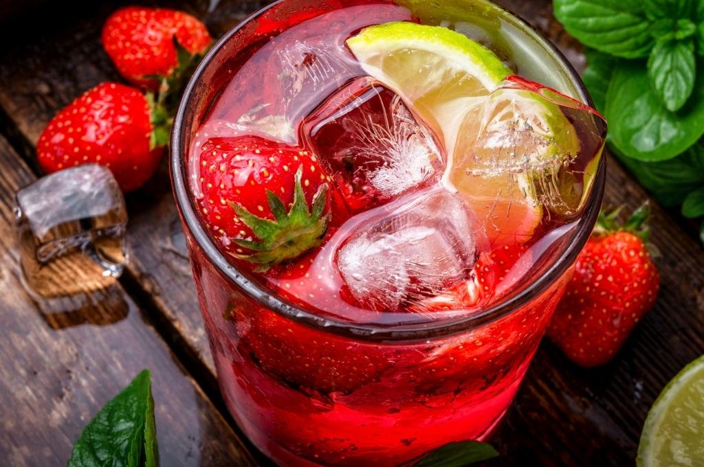 Mojito de fresa sin alcohol 🍓