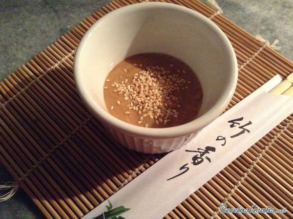 salsa especial para sushi con wasabi