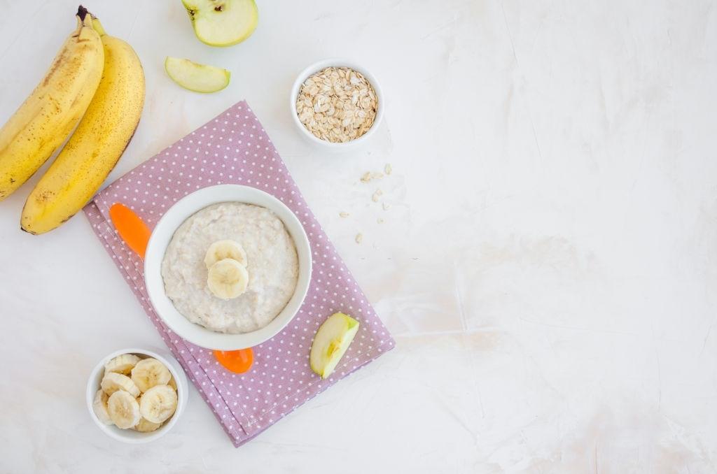 Papilla de plátano, manzana y cereales