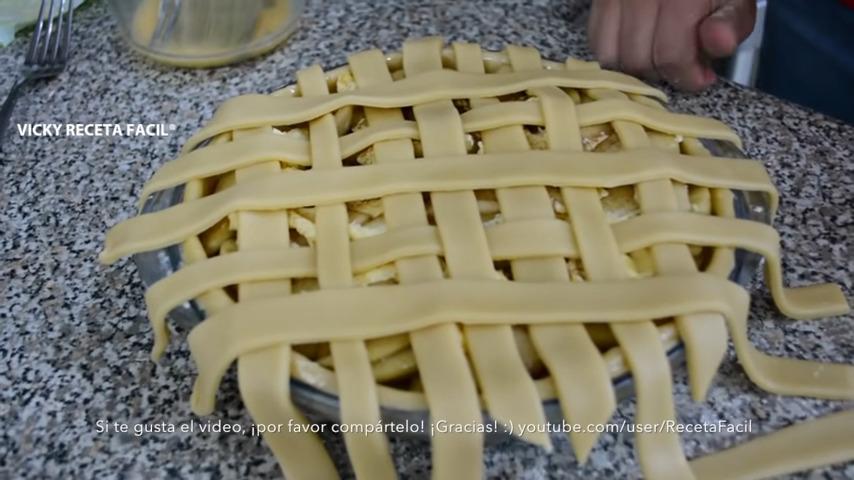 Tarta de manzana estilo blancanieves