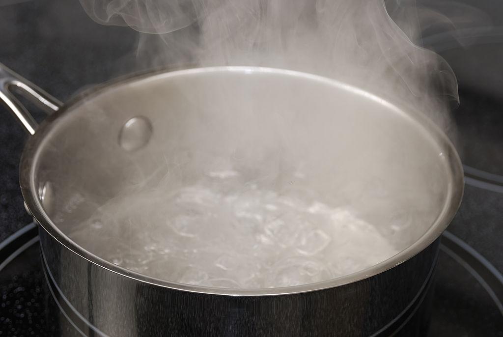 agua para paella seca