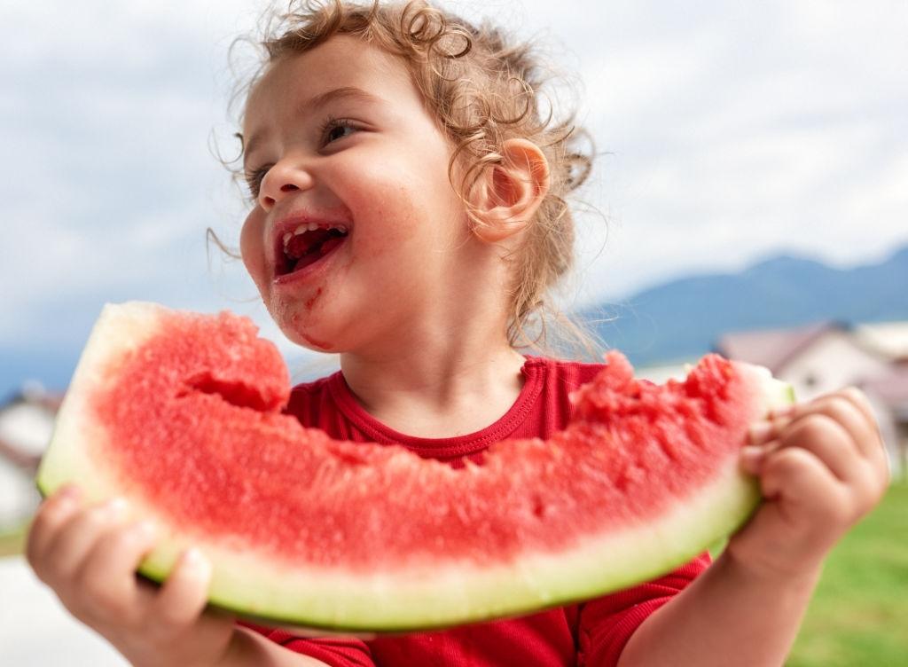 mejor fruta niños