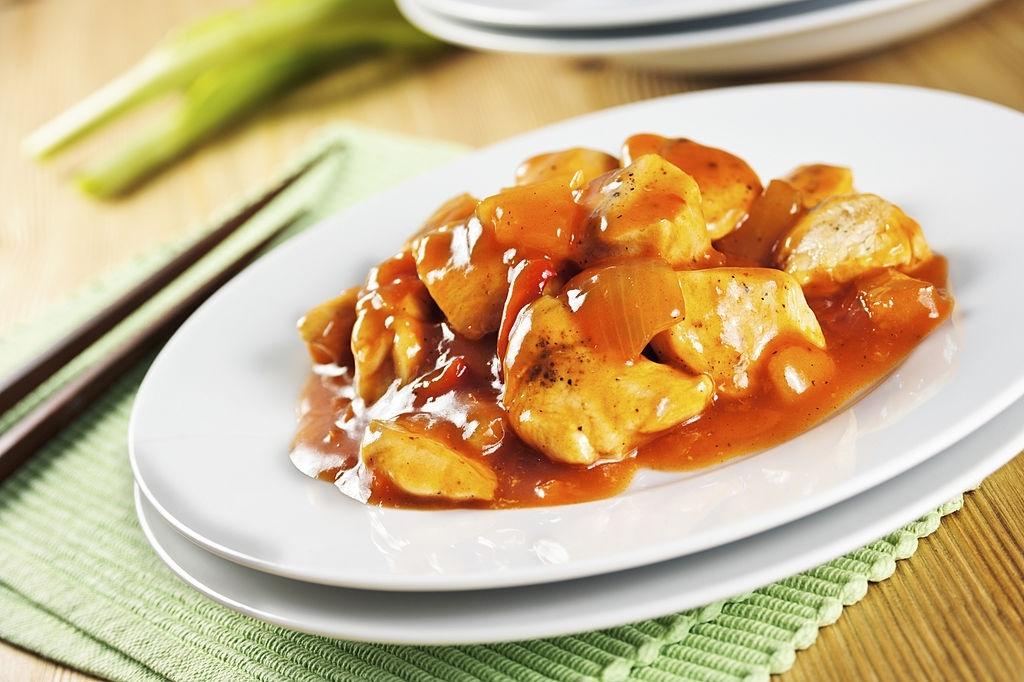 salsa agridulce con pollo