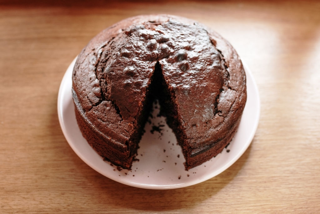 Bizcocho para tartas fondant de chocolate