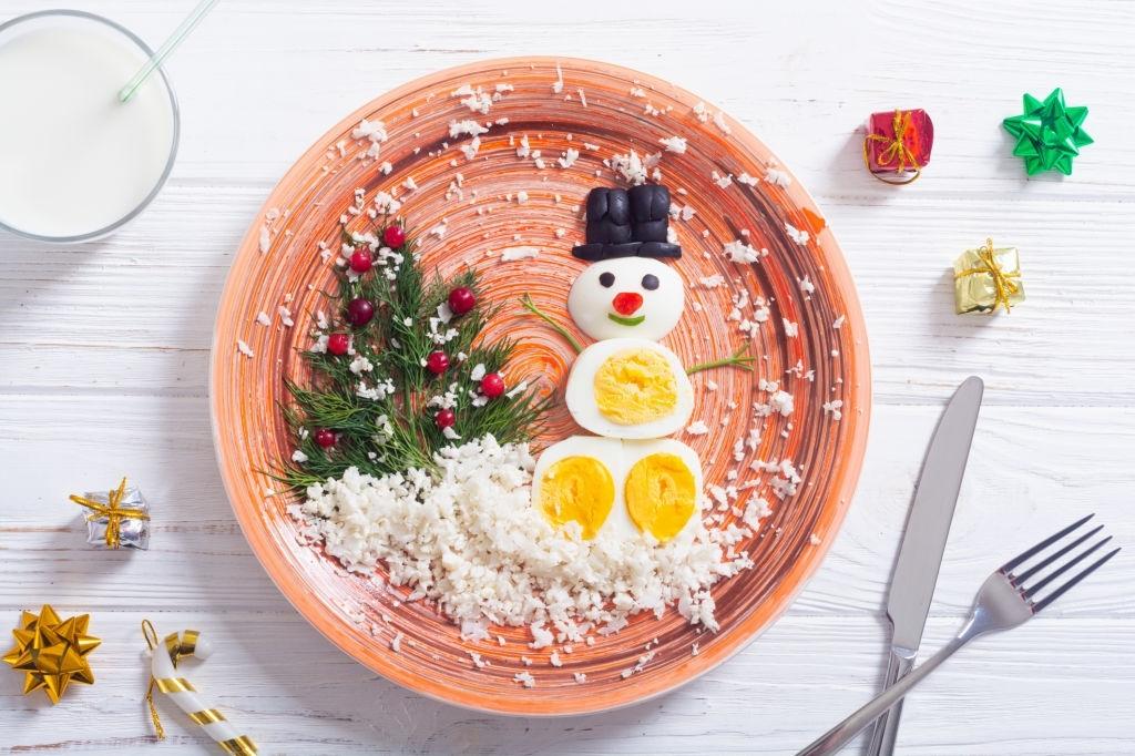 Muñeco de nieve divertido