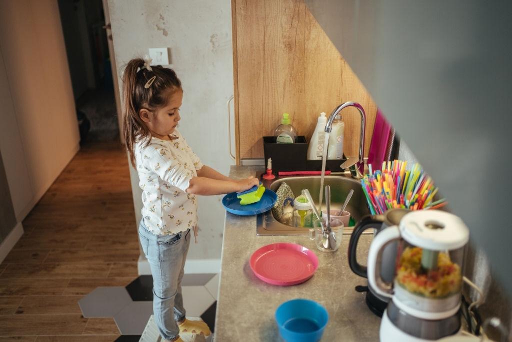 Taburete de cocina para niños