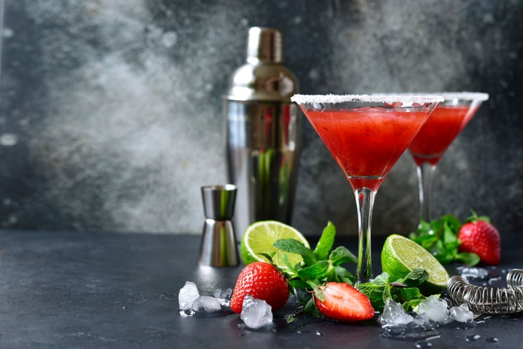 coctel con fresas sin alcohol