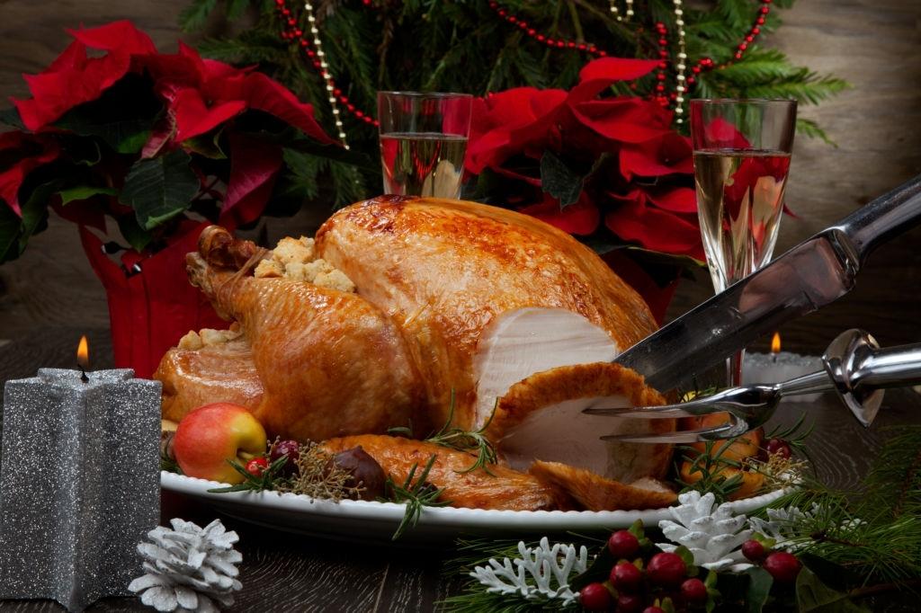 pavo relleno para el menu navideño
