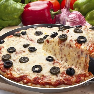pizza hecha en sartén