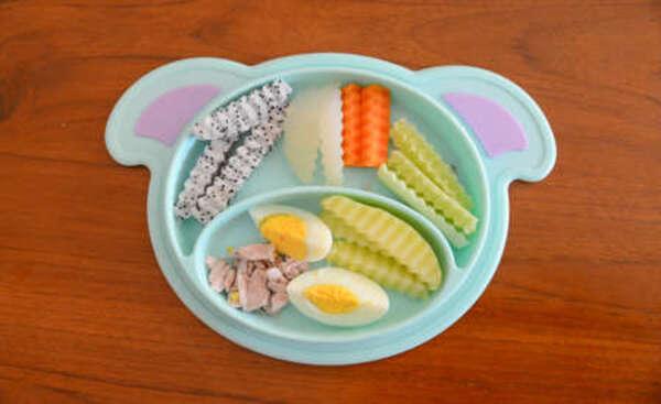 Comida BLW en plato