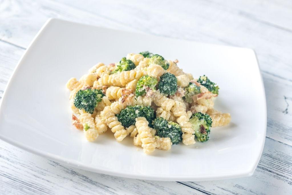 Pasta con salsa de brócoli