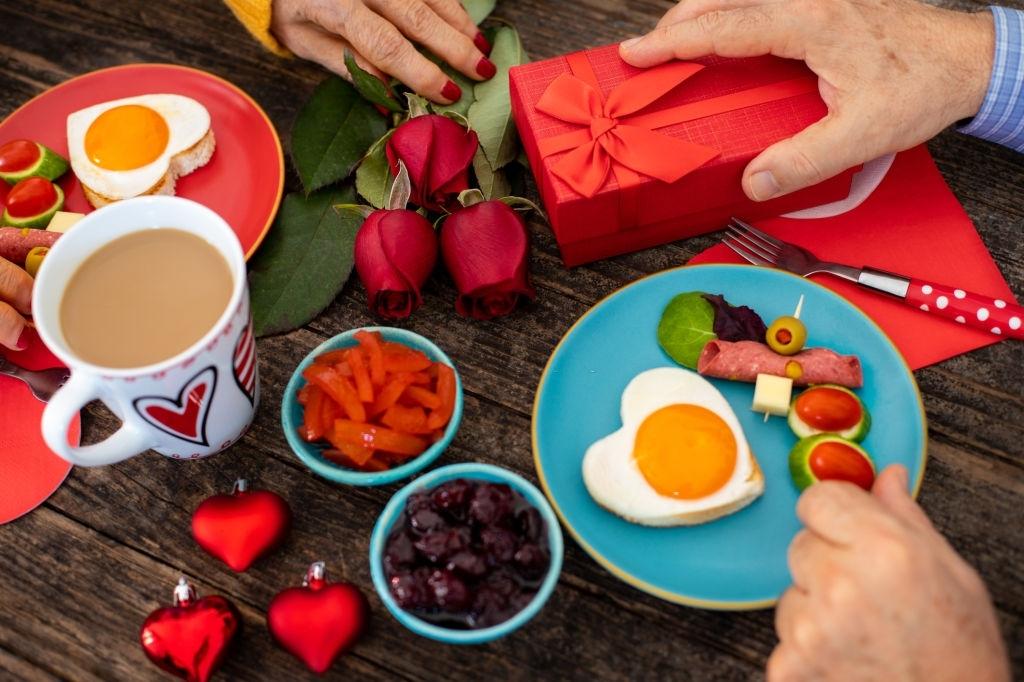 desayuno dia de los enamorados