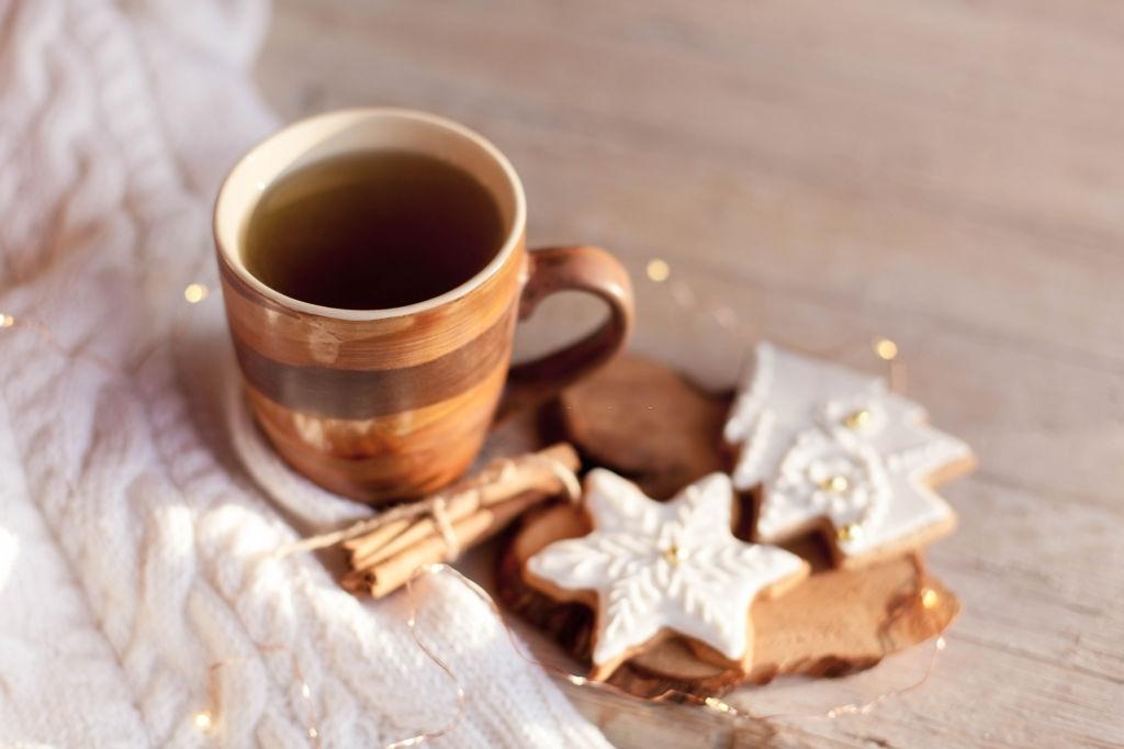 galletas navideñas con té