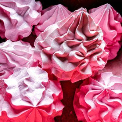 merengues de frutilla