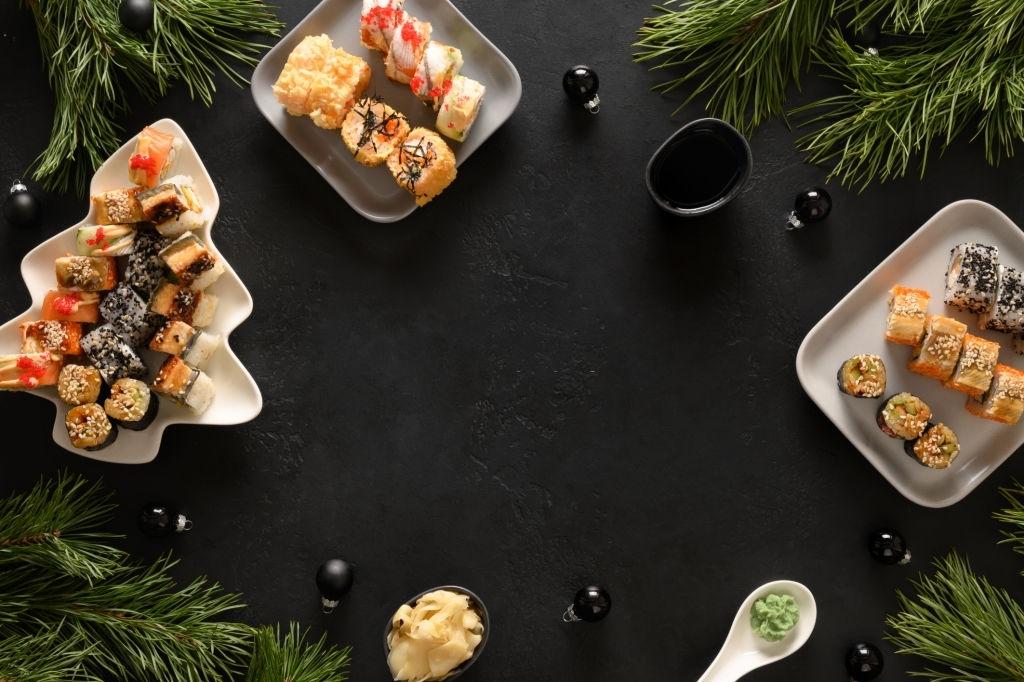 sushi recetas navidad