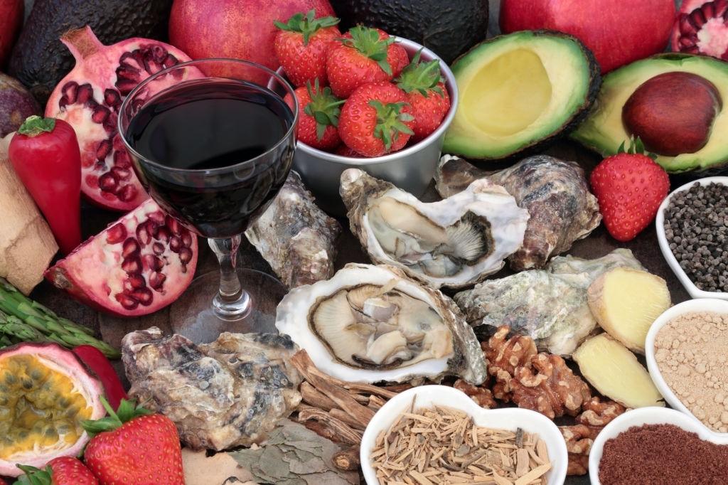 Bebida y comida afrodisiaca