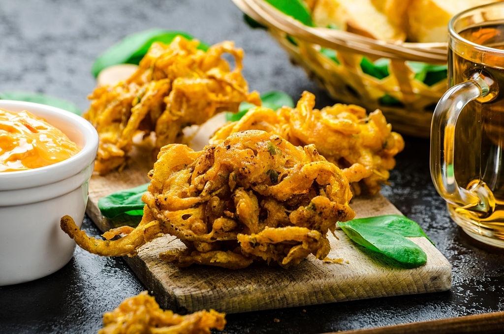Bhaji indio de cebolla