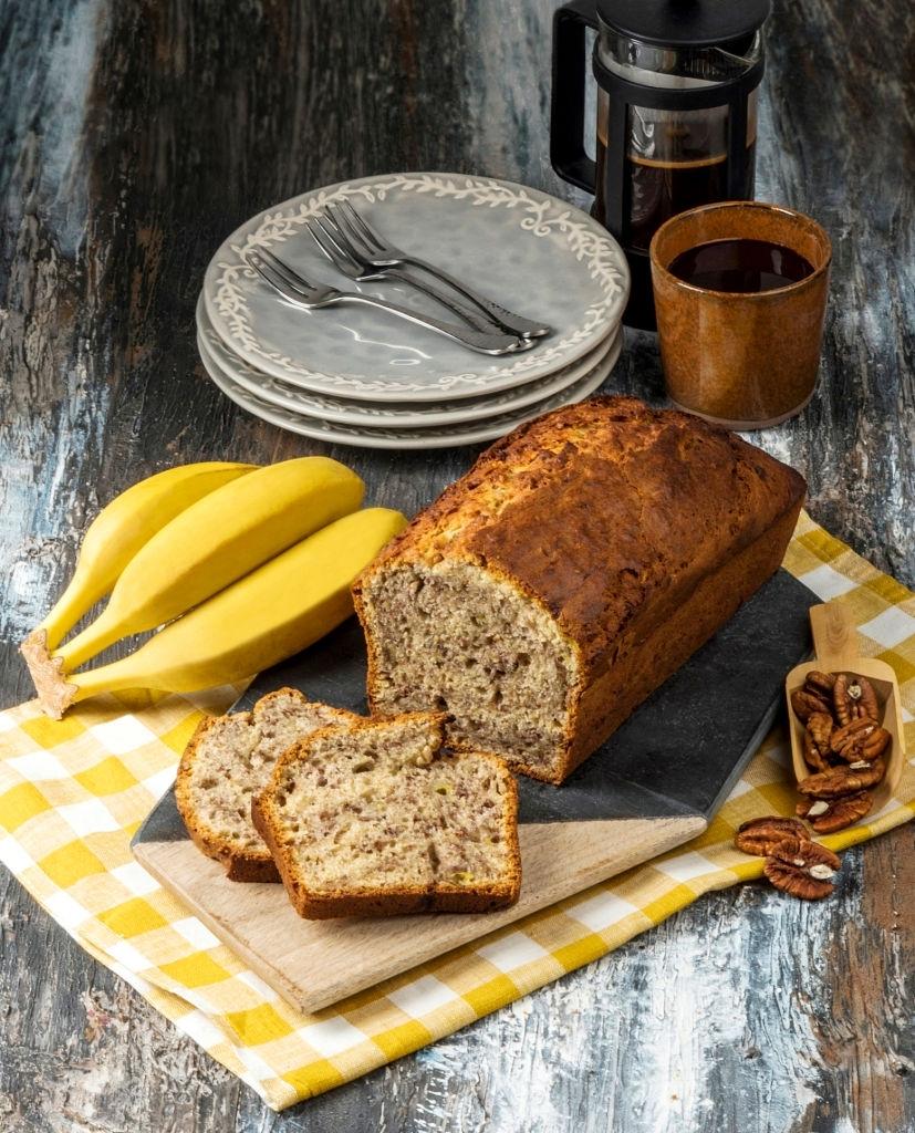 Receta pan de plátano