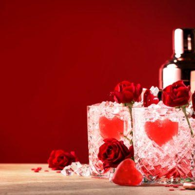 bebidas con y sin alcohol para san valentin