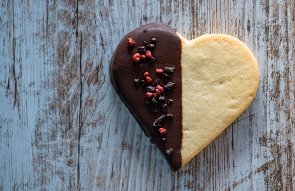 Galletas de San Valentín con forma de corazón