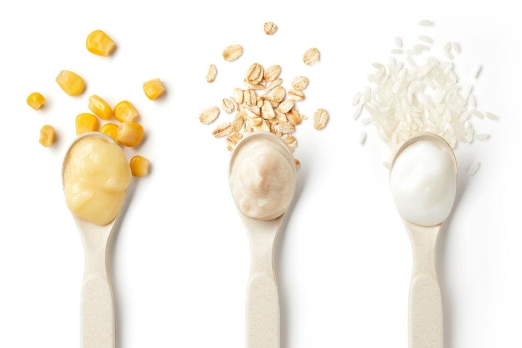 Papillas de cereales   Avena, Maíz, Arroz y multicereales con fruta