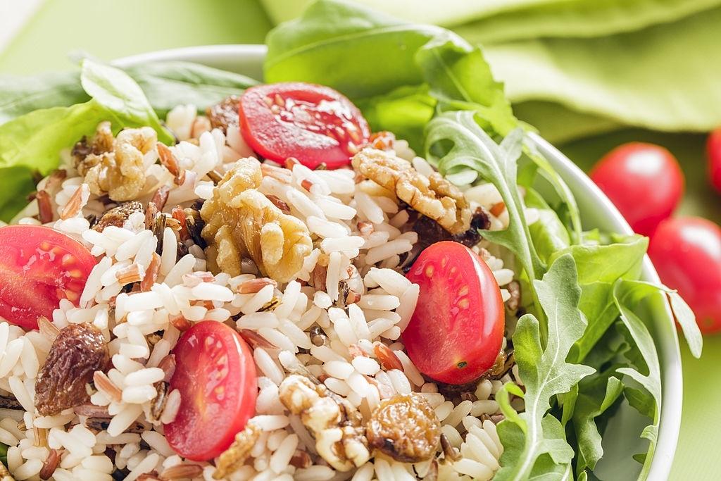 Ensalada de arroz pilaf oriental
