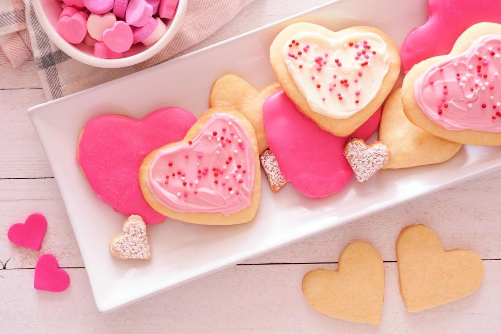 Galletas desayuno san valentin