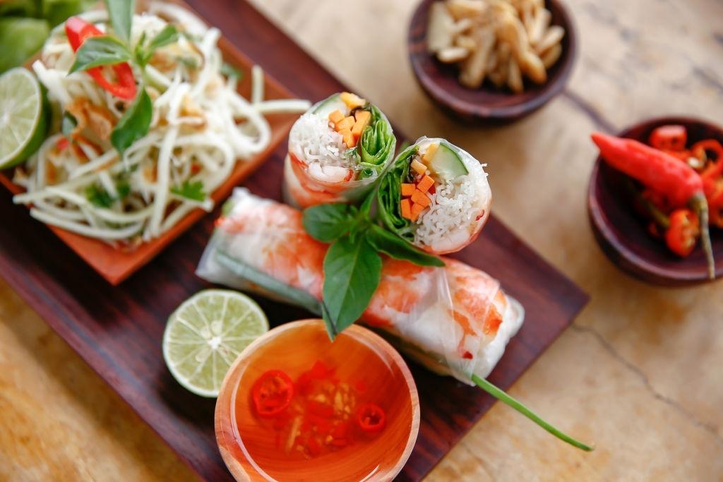 Rollitos de verdura vietnamitas