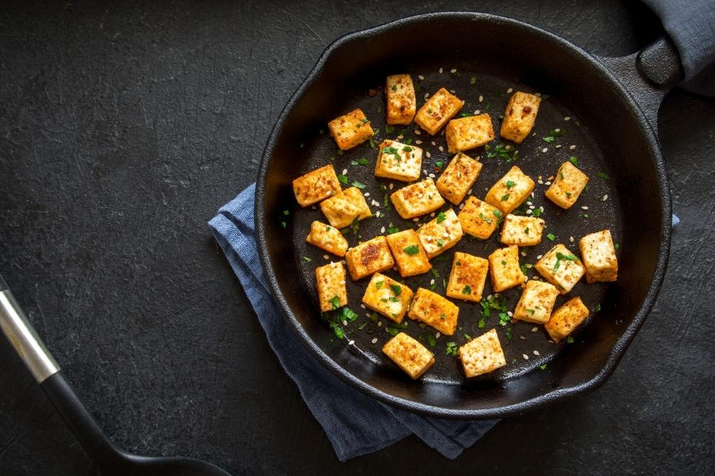 receta de Tofu firme salteado